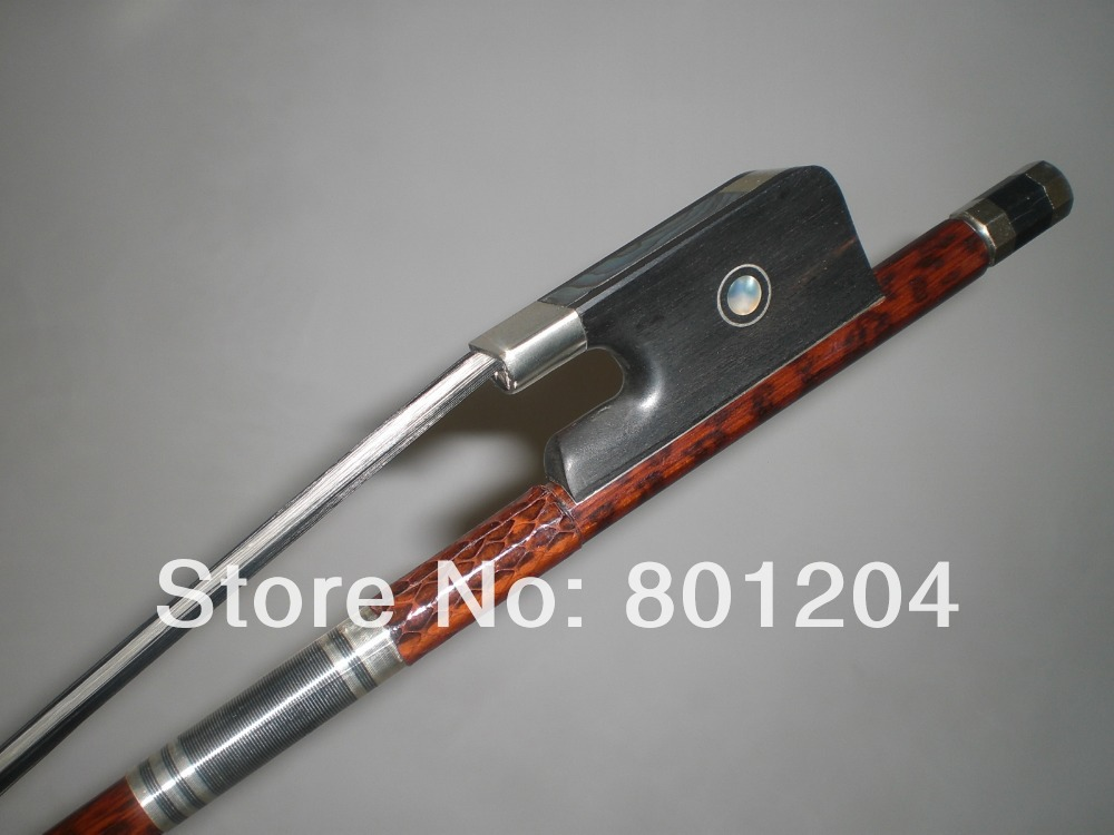1 PCs High Quality Baroque Double Bass Bow 3 4 Black White Bow hair 4005