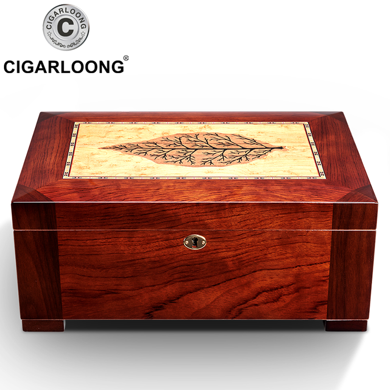 Cedar Wood Cigar Humidor Box Yellow Moisturizing Humidor Cabinet Cigar Case With Hygrometer Humidifier HH 1904 in Cigar Accessories from Home Garden