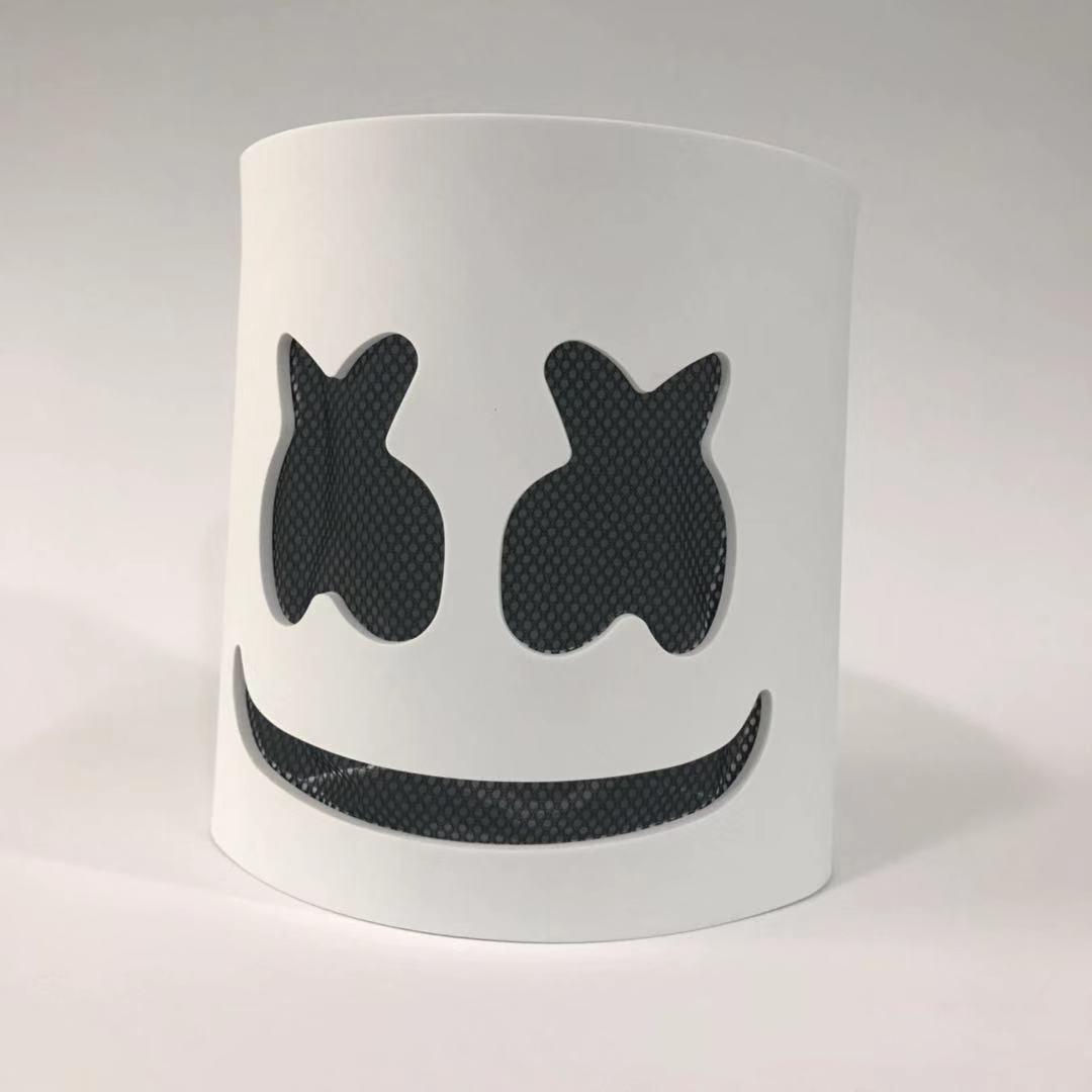 DJ Eibisch Licht Maske Modische Halloween Party Nacht Club EVA Weiße Maske Erwachsene Cosplay Kostüm Helm Verkauf 2019 NEUE