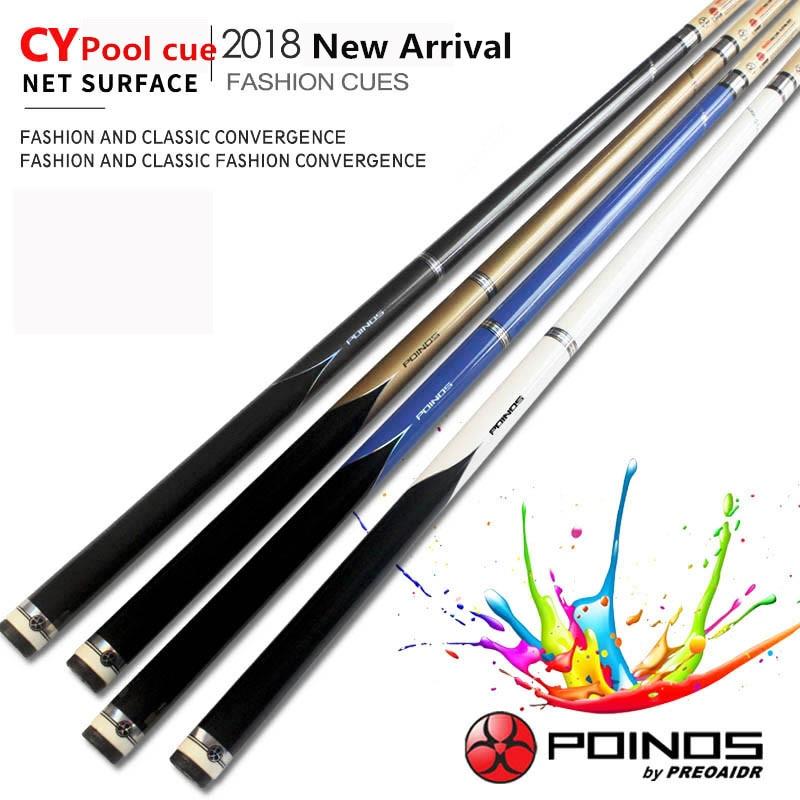 2019 New Arrival CY Pool Cues Stick Billiard 13mm 11 5mm 10mm Tip Maple Shaft Billiards