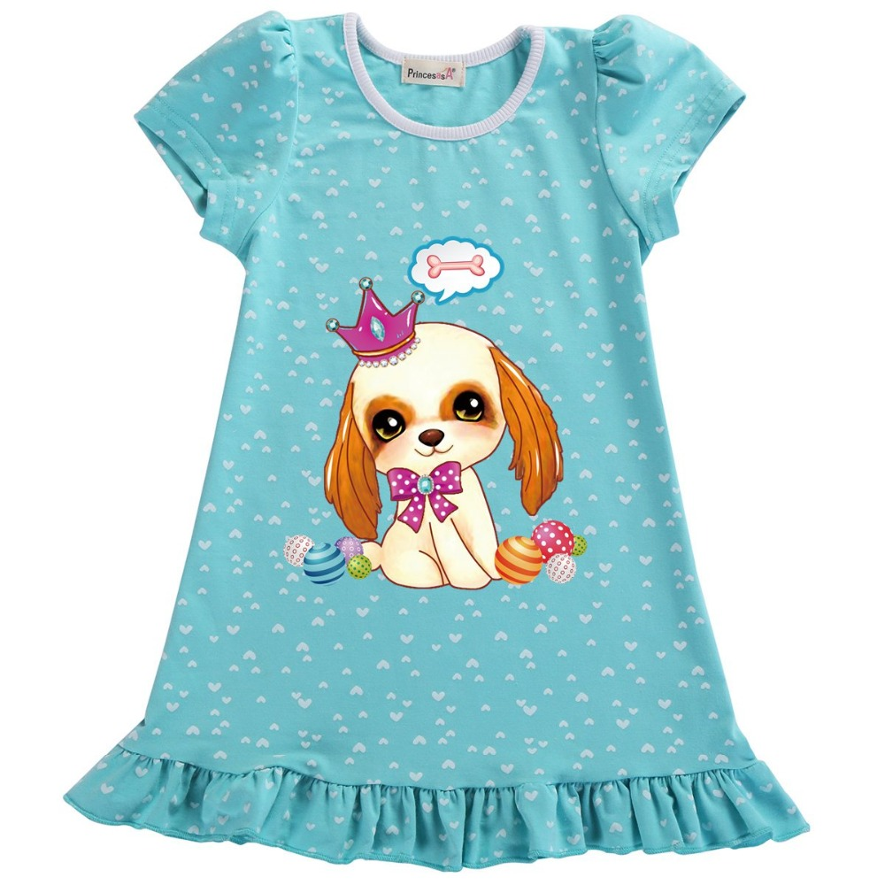 Animal Ladies Attire 2019 Style Youngsters Ladies Gown Cartoon Quick Sleeve Princess Gown Style Youngsters Attire Kids's Clothes