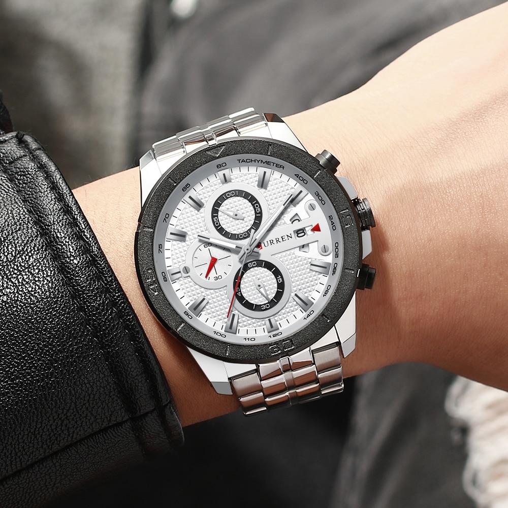 HTB12WuCcBGw3KVjSZFDq6xWEpXaj CURREN Men Watch Luxury Watch Chronograph