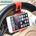 Cobao teléfono universal soporte para coche soporte para teléfono volante para huawei honor 4c 7 p8 lite iphone 4 4s 5 5s 6 6 s