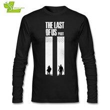 1cb536801122 The Last Of Us Camiseta Caras Mais Recente Únicas Camisetas lazer Custom  Made T-shirt dos homens de Manga Longa 100% Algodão Equ.