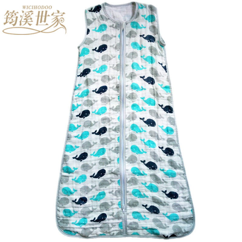Baby Sleeping Bag SleepSack Muslin Blanket Thin Soft Vest Type Cotton Gauze Newborn Baby Tracksuit Sleepwear 83CM&90CM