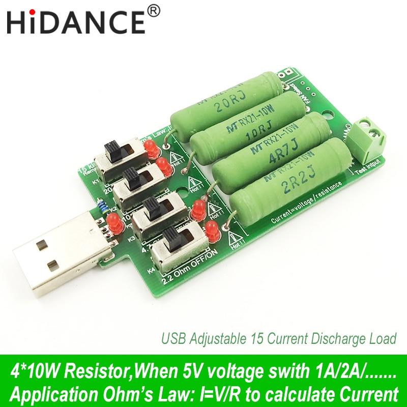 usb dc carga electrónica Resistencia de resistencia de descarga de alta potencia ajustable 4 tipo actual probador de capacidad de batería industrial actual
