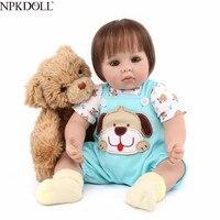 NPKDOLL очаровательны 50 см boneca Реалистичная Кукла Карапуз силиконовые Reborn Baby куклы реалистичные reborn baby corpo inteiro de силиконовые