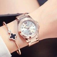 2017 Fashion Casual GIMTO Luxury Brand Women Watches Steel Clock Ladies Quartz Watch Lovers Female Wristwatch
