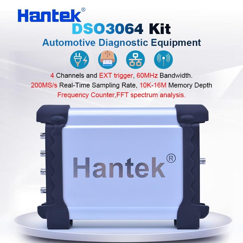 Hantek DSO3064 Kit 4CH Automotive Oscilloscope kit for Car Diagnostic USB 2.0 200MS/s 60MHz Frenquency Counter LAN optional