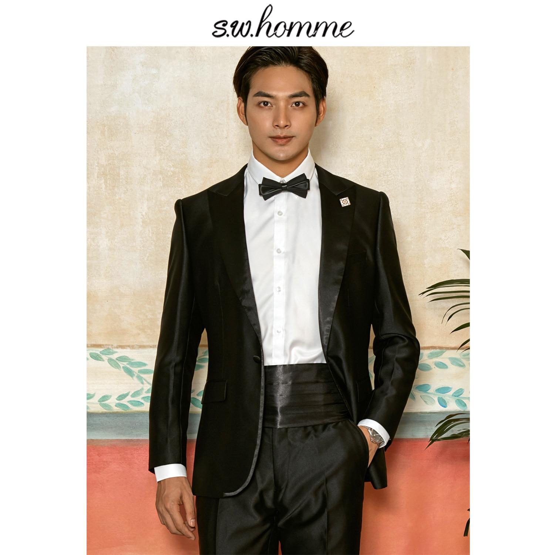 Tailor-made Suits Conscientious Oscn7 2019 Black Plain Peak Lapel Korea Customize Suits Brand Clothing Slim Fit Leisure Tailor Made Mens Suit E-wt-0006-70 Men's Clothing