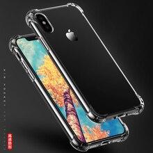 Супер Противоударный прозрачный чехол GNTO для мобильных телефонов iPhone X XS XR XS Max 8 7 6 plus 5 5S SE