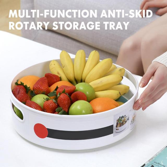 Multi-Function Anti-Skid Rotary Storage Tray for your favourite products  1