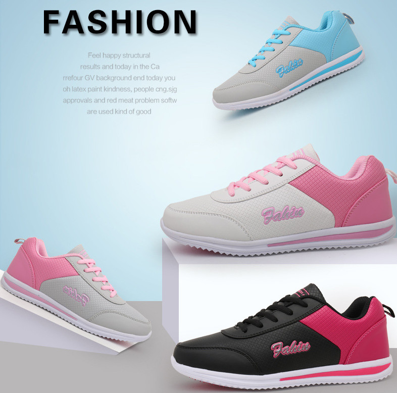 BEANNHUA Breathable Leather Ladies sports shoes lightweight running shoes women s shoes flat shoes wholesale and