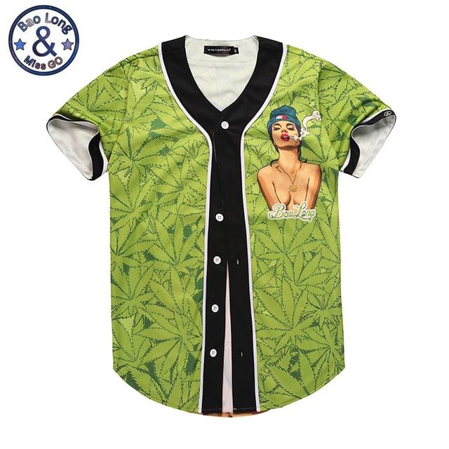 8504076f6c7 Mr.Bao Long Baseball Jerseys 3D T shirt Men Funny Print Sexy Girl Green  Leaves Fitness Tee Shirt Homme Short Sleeve Tshirt Tops