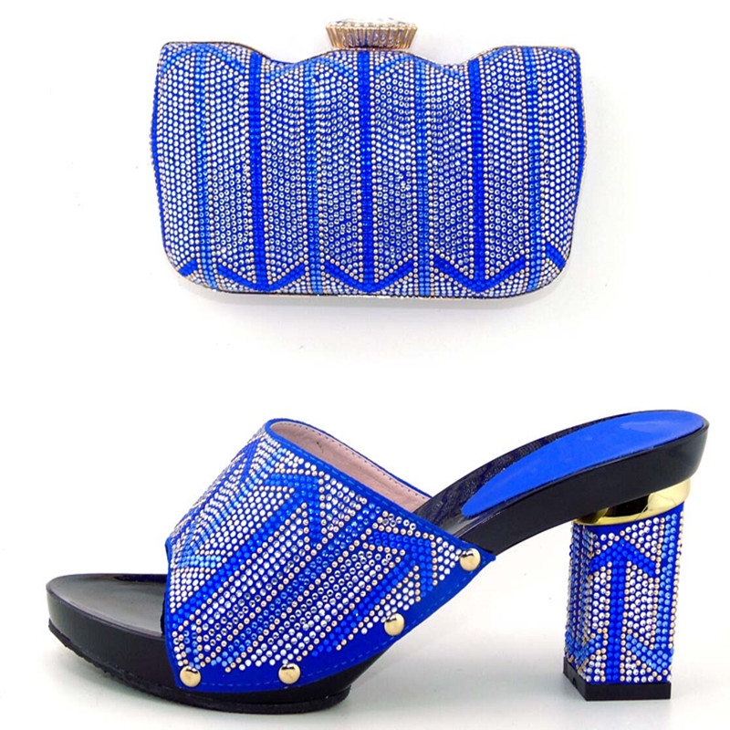 ФОТО  African Shoes and Bags Matching Set New Arrival Shoes High Quality Italian Shoe and Bag Set !DL1-22