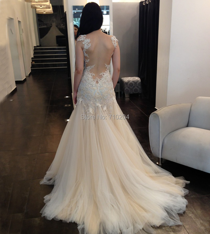 Buy cap sleeves hot sale new sexy for Backless wedding dresses for sale