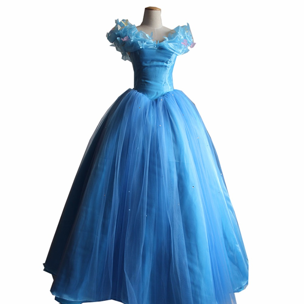2017 Cinderella Dress Adult Cinderella Cosplay Costume Adult Cinderella Costume