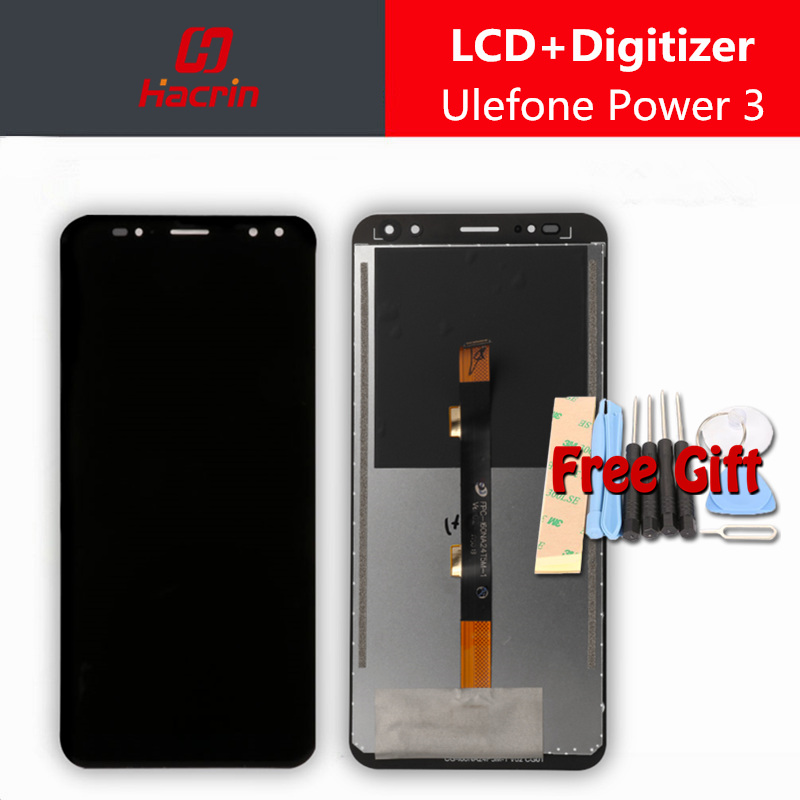 Ulefone Power 3 LCD Display + Touch Screen Digitizer 2160X1080 FHD Premium Assembly Replacement Panel for power3 3S 6.0 inches