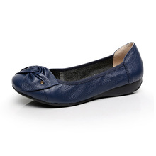 2017 Plus Size(35-43), Women Genuine Lather Flats, Women Shoes, Soft Ballet Flats Fashion Summer single Women zapatos mujer Shoe