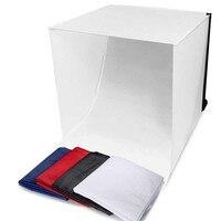 Wrumava 40*40 cm mini Folding Lightbox Photography Studio Softbox LED Light Photo Studio soft box Shooting Tent Softbox