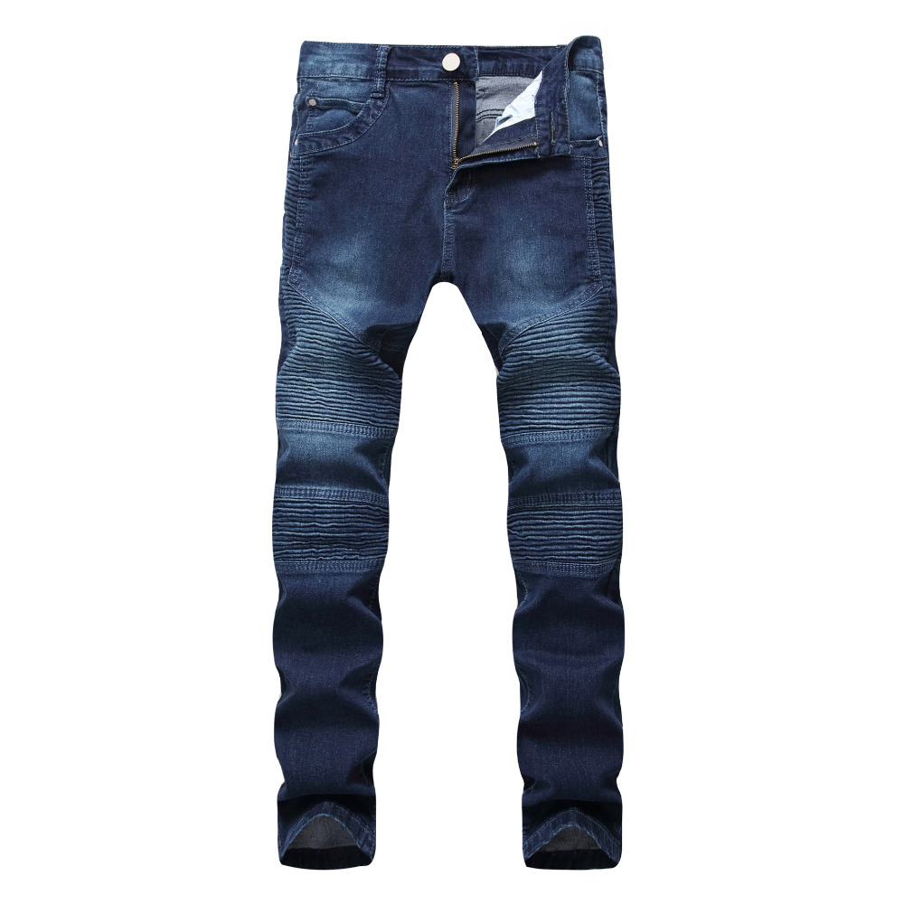 Brand Men Jeans Slim Biker Motorcycle Jeans high quality Cotton Cozy Denim Biker Jeans Man Skinny Long Trousers plus size 42 airgracias elasticity jeans men high quality brand denim cotton biker jean regular fit pants trousers size 28 42 black blue