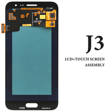 3pcs Mobile Phone Screen Replacement For Samsung Galaxy J3 2015 LCD J300 J300F Display Assembly White Gold Smartphone Pantalla