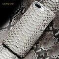 Чехол из натуральной кожи питона для iPhone SE 2020 7 8 X XS Max XR 6s 5s 5 6 7 8 plus 11 pro max Змеиный Роскошный чехол marvel