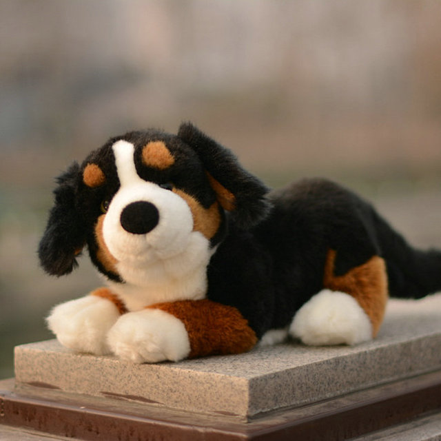 bernese mountain doll plush dogs toy birthday gifts cute car
