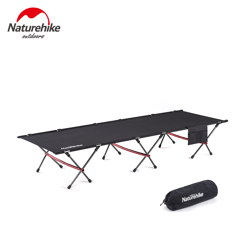 Naturehike 2019 New Design High Strength Outdoor Ultralight Camping Folding Cot Indoor Storage Rest Bed For Sleeping Relaxing