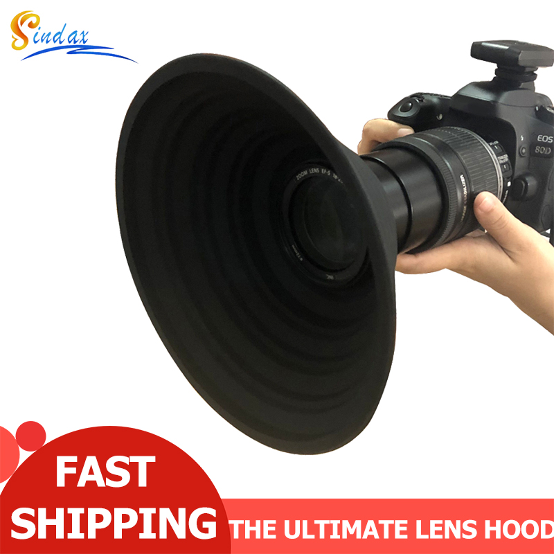 The Ultimate Lens Hood For Nikon Canon Sony Camera Lens 58-77mm Take Reflection-Free Photos Video Silicone Camera Lens Hood