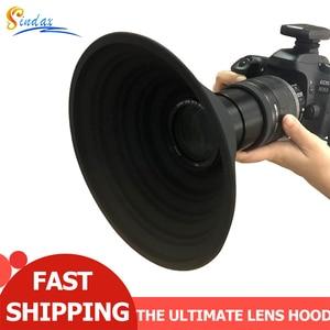 Image 1 - Ультратонкая бленда для объектива камеры Nikon Canon Sony 58 72 мм, силиконовая бленда для объектива камеры без отражения