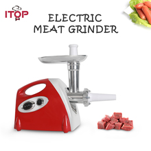 Купить с кэшбэком ITOP Household Meat Grinder Meat Mincer Chopper Sausage Stuffers Kibbe Maker Multifunctional Food Processors 220V With 3 Blades