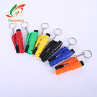 6 colors Mini Safety Hammer Car Life-Saving Escape Hammer Emergency Escape Rescue Tool with Keychain Seat Belt Knife Cutter D31