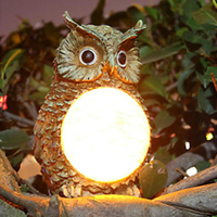 Solar Powered Owl LED Home Yard Decor Outdoor Light Lighting Statue Landscape Lamp Garden Party Decor