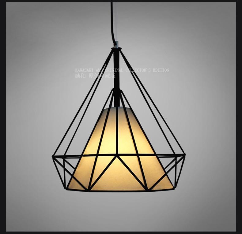 Industrial  iron restaurant chandelier American loft creative bird cage bar desk study single head diamond chandelier WPL247