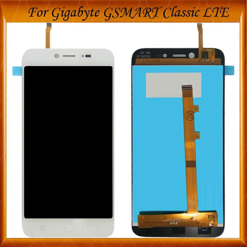 5 Pouces LCD Display + écran Tactile Pour Gigabyte GSMART Classique LTE LCD AVEC Digitizer Panneau Lentille Du Capteur Assemblée Verre