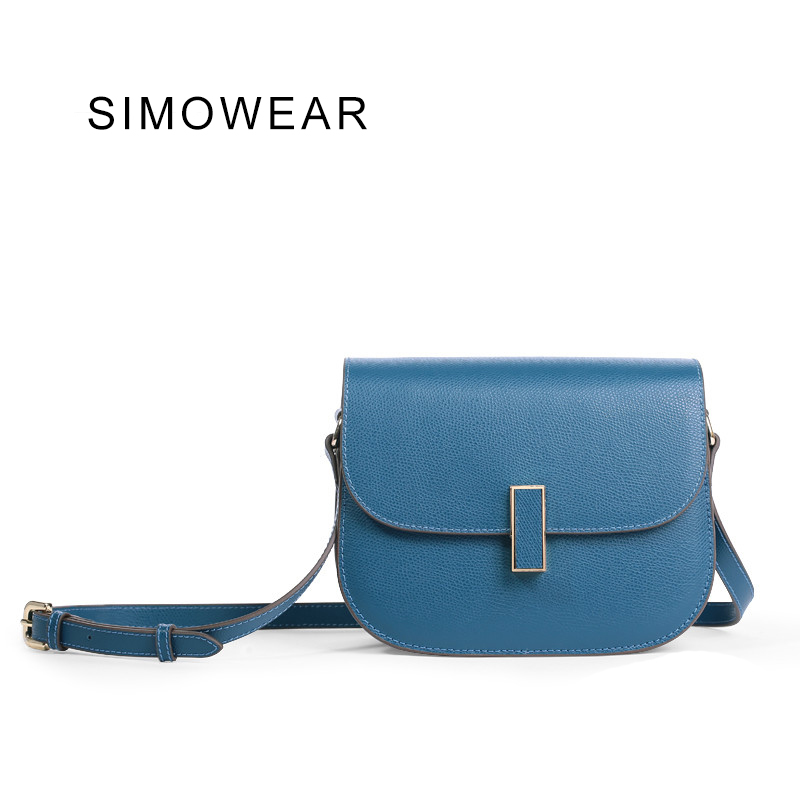SIMOWEAR 2017 New It Bag Korea Fashion Brand Design Women Shoulder Messenger Bag Geniune Cowskin Leather Saddle Bag Lady Flap sa212 saddle bag motorcycle side bag helmet bag free shippingkorea japan e ems