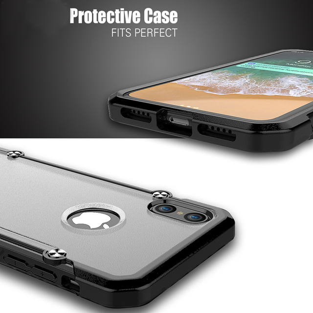 huge selection of d88d6 d300a US $4.25 |For iPhone 8 Case Original Luxury Brand TPU + Plastic Transparent  Cover For Apple iPhone 8 Plus For iPhone X Clear Armor Cases-in Fitted ...