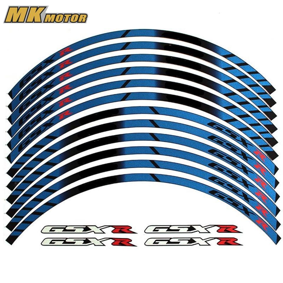 BYSPRINT For SUZUKI GSXR General purpose motorcycle wheel decals Reflective stickers rim stripes