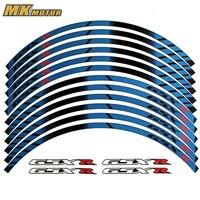 For SUZUKI GSXR General purpose motorcycle wheel decals Reflective stickers rim stripes