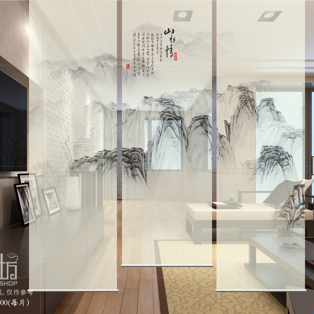 Hanging Curtain Room Divide Biombo Screen Patterns Designs Window Partition Curtain Translucent Living canvas print painting