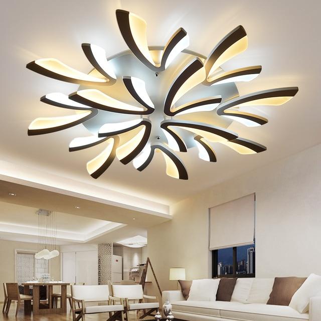 65 17 46 De Reduction Pissenlit Acrylique Moderne Led Plafonniers Dia120 100 80 70 60 Cm Pour Salle A Manger Chambre Eclairage A La Maison De