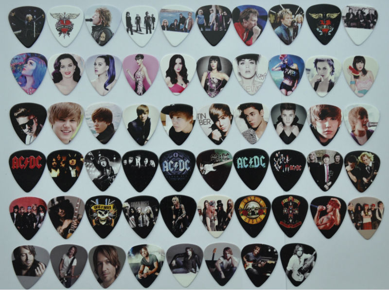 New 58pcs/lot Medium Various Guitar Picks Rock Bands Popular Star GNR ACDC
