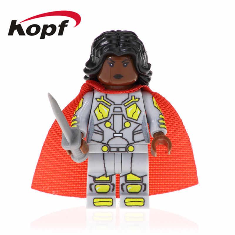 PG1522 Đĩa Đơn Bán Siêu Anh Hùng Akam người Nhện Tàu Khu Trục Drax Huntress Superfrail Khối Xây Dựng Cho Trẻ Em DIY Tặng Đồ Chơi