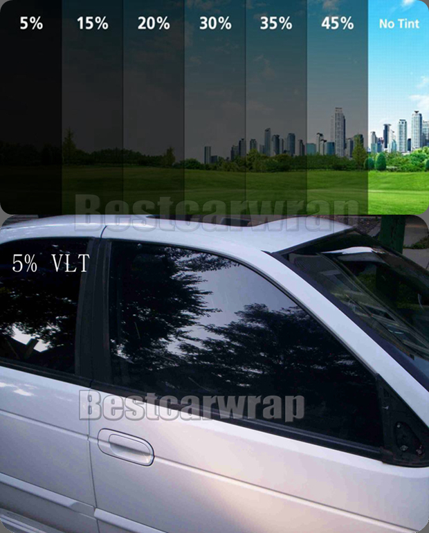 VLT 5% 30% 45% 20%  Window tint Film Car solar Tinting For Glass  Heat Insulation PROTWRAPS  1.52x30M 5X98ft  makeup brushes