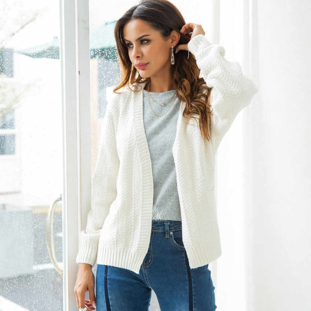 Suéter mujeres Otoño Invierno tejer Casual sólido manga larga colores suéter  femenino suéteres moda mujer ropa 5f71a0e7333a7