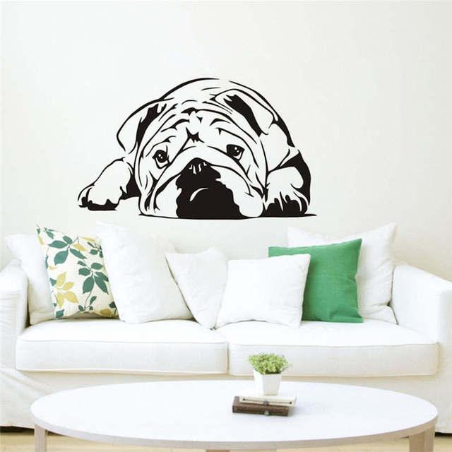 brixini.com - Little Pug Vinyl DIY Removable Wall Sticker
