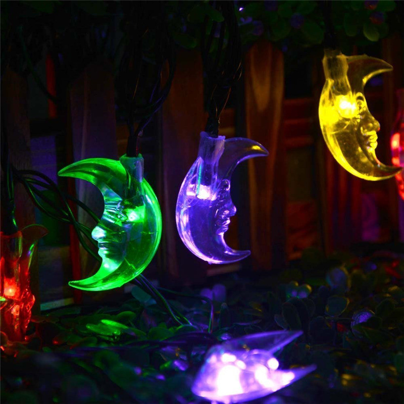 New Moon Solar Powered Christmas Lights Multi-color 30 LED  (1)
