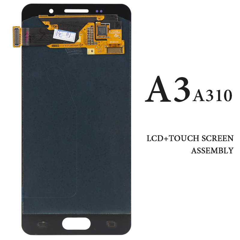 Smartphone Replacement Spare Parts Touch Screen For Samsung A3 2016 LCD <font><b>Display</b></font> <font><b>AMOLED</b></font> Black White A3 A310 <font><b>A310F</b></font> Panel image