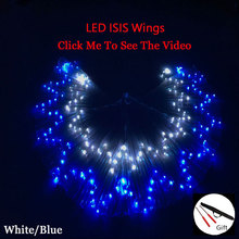 LED Belly Dance Wings Led Accessories  isis 360 Degree Bellydance Prop Butterfly Oriental Wing